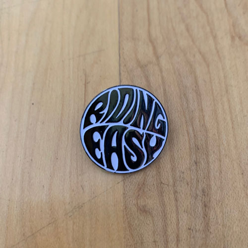 RidingEasy Black and White Enamel Pin